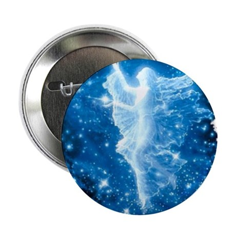 """Crystal Angel 2.25"""" Button"""