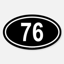 76 Oval Decal