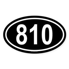 810 Oval Decal