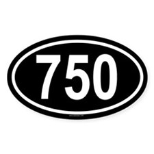 750 Oval Decal