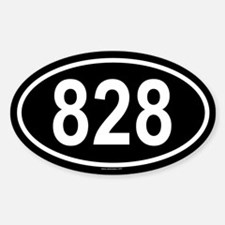 828 Oval Decal
