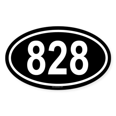 828 Oval Sticker