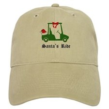 Santa's Golf Ride - Baseball Baseball Cap