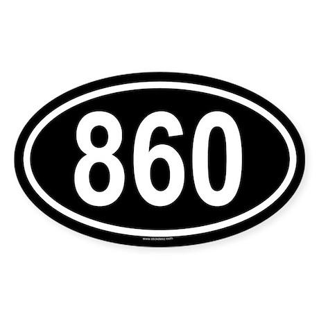 860 Oval Sticker
