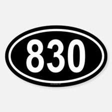 830 Oval Decal