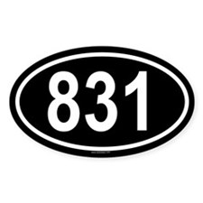 831 Oval Decal