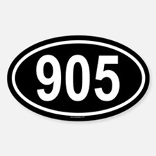 905 Oval Bumper Stickers