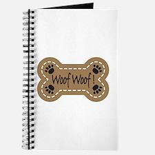 Dog Bone Paw Print Woof Journal