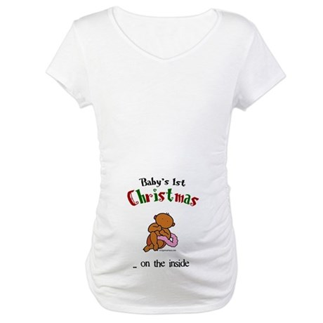 First christmas on the inside Maternity T-Shirt