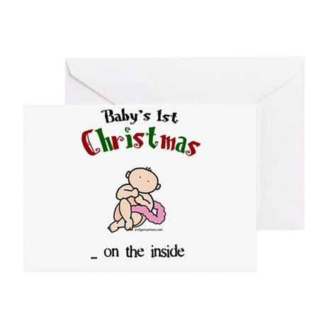 First christmas on the inside Greeting Card