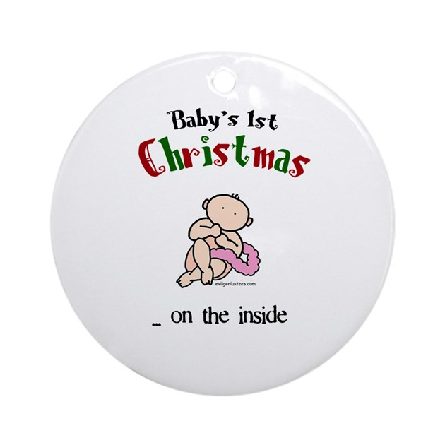 First Christmas On The Inside Ornament Round By