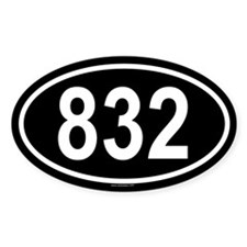 832 Oval Decal