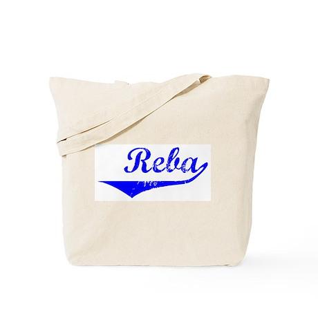 Reba Vintage (Blue) Tote Bag