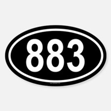 883 Oval Decal