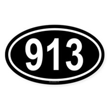 913 Oval Decal