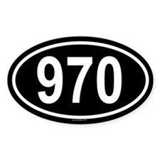 970 Oval Decal