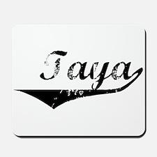 Taya Vintage (Black) Mousepad