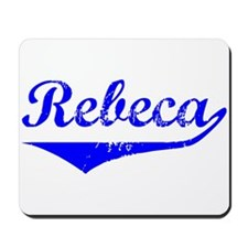 Rebeca Vintage (Blue) Mousepad