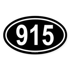 915 Oval Decal