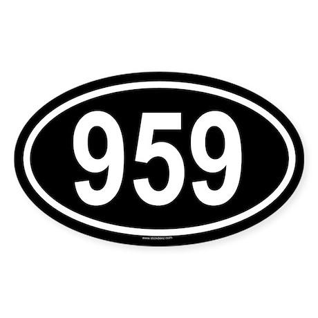 959 Oval Sticker