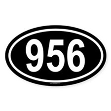 956 Oval Decal