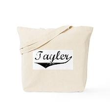Tayler Vintage (Black) Tote Bag