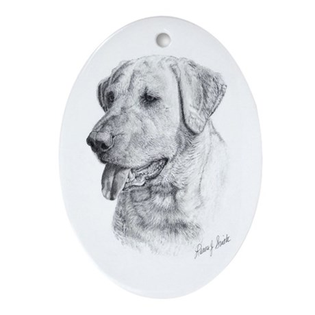 Yellow Lab Oval Ornament