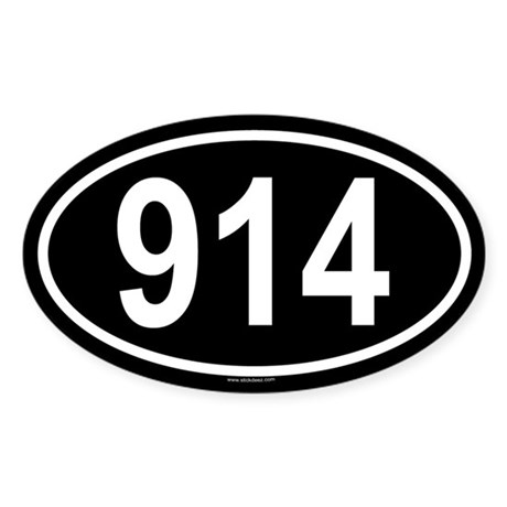 914 Oval Sticker