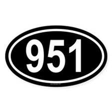 951 Oval Decal