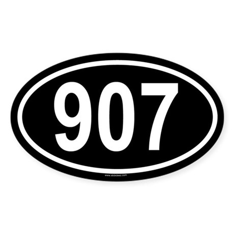 907 Oval Sticker