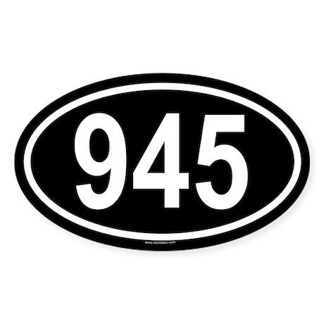 945 Oval Sticker