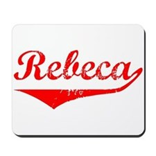 Rebeca Vintage (Red) Mousepad
