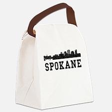 Spokane WA Skyline Canvas Lunch Bag