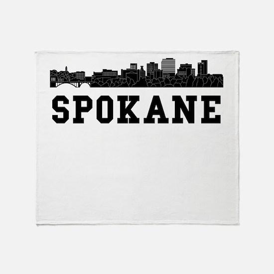 Spokane WA Skyline Throw Blanket