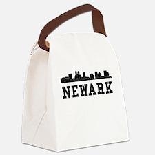 Newark NJ Skyline Canvas Lunch Bag