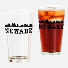 Newark NJ Skyline Drinking Glass