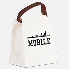 Mobile AL Skyline Canvas Lunch Bag