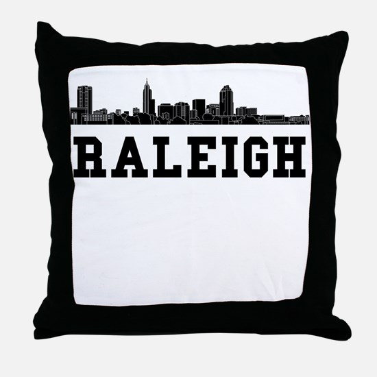 Raleigh NC Skyline Throw Pillow