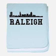 Raleigh NC Skyline baby blanket