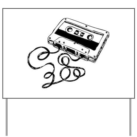 Mixtape Symbol Yard Sign by symbolsonstuff
