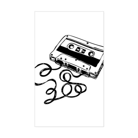 Mixtape Symbol Rectangle Sticker