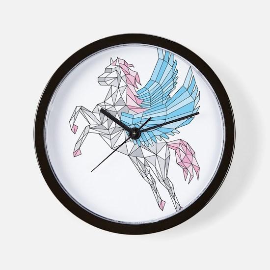 Geometric Pegasus Wall Clock