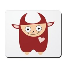 Red Cute Devil Mousepad