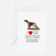 I love My Brittany Spaniel Greeting Cards (Pk of 1