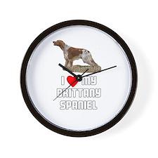 I love My Brittany Spaniel Wall Clock