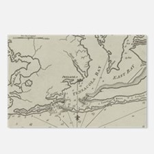 Vintage Map of Pensacola Postcards (Package of 8)
