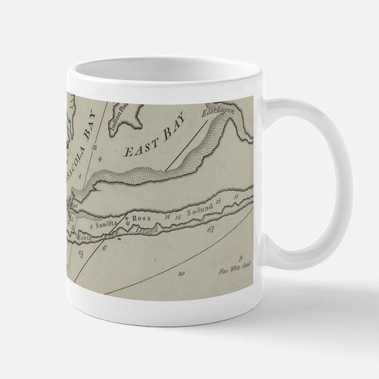 Vintage Map of Pensacola Florida (1788) Mugs