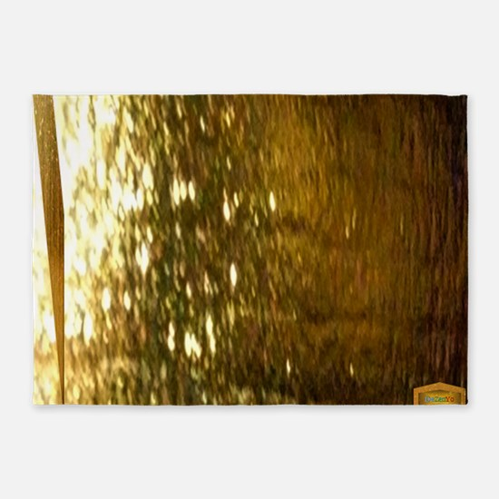 11th Pattern; Pure Gold 5'x7'Area Rug