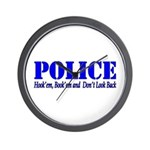 Hook'em Police Wall Clock