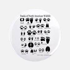 """Animal Tracks Guide 3.5"""" Button"""